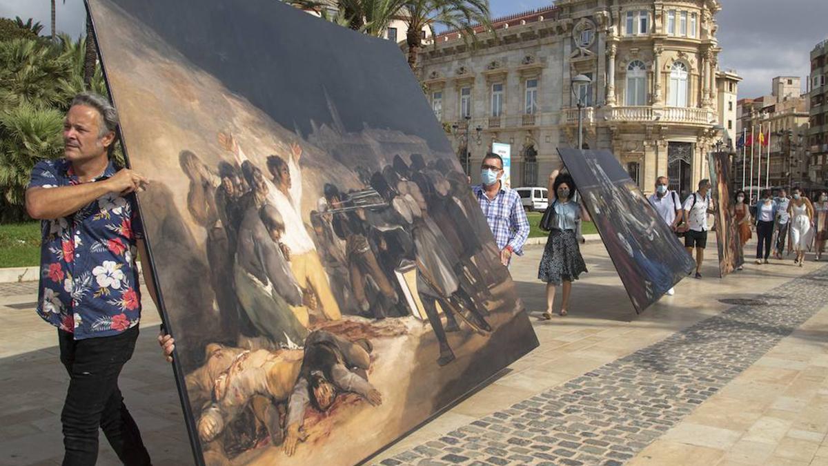 Cartagena llena sus calles de obras icónicas( 1/3 )